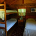 Cabin interior at The Lost Resort.- 30 Campgrounds Perfect for West Coast Winter Camping