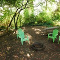 A walk-in tent site at Fay Bainbridge Park Campground.- A Complete Guide to Camping Near Seattle