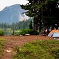Backcountry campsite at east Watson Lake.- A Weekend in North Cascades National Park