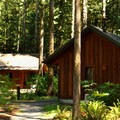 Typical cabin site at Rasar State Park Campground.- 30 Campgrounds Perfect for West Coast Winter Camping