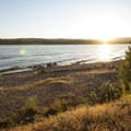 Louis Rasmussen Day Use Park beach on Columbia River.- Oil trains are risking it all in the Columbia River Gorge