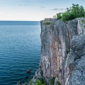 Palisade Head is a popular rock climbing location.- Palisade Head