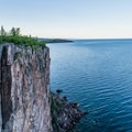 View from the main lookout point, Palisade Head, Tettegouche State Park.- Road Trip Along the North Shore of Lake Superior