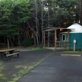 Yurt campsite in Grayland Beach State Park Campground.- 30 Campgrounds Perfect for West Coast Winter Camping