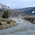 The Gardner River and Boiling River converge to form natural hot springs. -  Hot Springs, Geysers, and Other Geothermal Activity