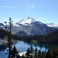 Mount Baker (10,781 ft) over Iceberg Lake from Herman Saddle.- 12 Epic Hikes for You and Your Dog in the Pacific Northwest