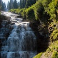 Florence Falls is a lesser known waterfall.- Glacier National Park
