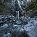 462-foot Comet Falls. - Winter in Mount Rainier National Park