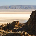 Looking over the Alvord Desert on the Pike Creek Mine Hike.- Meet the Oregon Natural Desert Association