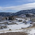 Return view of Mammoth Hot Springs by Trailhead 1N4.- The Wild Solitude of Winter in Yellowstone