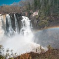A rainbow over High Falls in Grand Portage State Park, Minnesota.- State and County Parks and Forests
