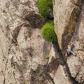 Climber on the West Ridge in Eldorado Canyon State Park.- Denver's Best Day Hikes