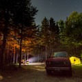 Sugarloaf Campground at night.- The Beginner's Guide to Car Camping