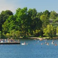 East Green Lake beach and swimming area.- City Parks You Definitely Need to Visit