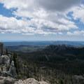 View from the fire lookout.- Black Elk Peak via Willow Creek