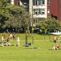 Green Lake Park sportsfields and volleyball set up.- City Parks You Definitely Need to Visit