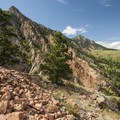 View north to South Boulder Peak (8,549 ft).- Denver's Best Day Hikes