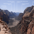 Zion Canyon from Angels Landing (5,785').- 4 Tips to Help You Prepare for Zion National Park