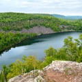 Bear Lake from above, Tettegouche State Park.- Road Trip Along the North Shore of Lake Superior