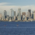 View of Elliott Bay and the Seattle skyline from Seacrest Park.- Adventure in the City: Seattle