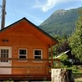 Cabin at Howard Miller Steelhead Park.- Best Year-round Campgrounds in Washington