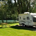 Standard campsite on the Skagit River in Howard Miller Steelhead Park Campground.- A Guide To Camping in Washington