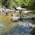 Boulder Creek at Eben G. Fine Park, Colorado.- Plunge Into Swimming Holes
