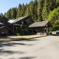 Sol Duc Hot Springs Resort main office, restaurant, and general store.- 5 Great Winter Lodging Options on the Olympic Peninsula