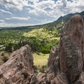 View south to Flagstaff and Green Mountain from Red Rocks.- How to Microadventure Like a Badass