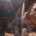 110-foot Lower Emerald Pool Falls and Behunin Creek Falls.- The West's 100 Best Waterfalls