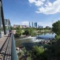 20th Street Steel Bridge crossing over the South Platte River at Commons Park.- Denver's Best Parks