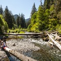 Sol Duc River swimming hole at Sol Duc Campground.- Best Lake + River Camping in Washington