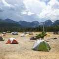 Group camping area 2S at Glacier Basin Campground.- Rocky Mountain National Park