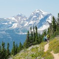 Amazing views from Swiftcurrent Pass.- Glacier National Park