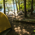 One of several excellent shoreline campsites at Fairholme Campground.- A Guide To Camping in Washington