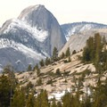 Olmsted Point: View southwest to Yosemite's legendary Half Dome.- How to Half Dome in a Day
