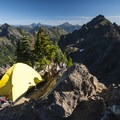 View north from the summit of Mount Ellinor.- 70 Breathtaking Backcountry Campsites