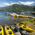 Dock and boat rentals at Log Cabin Resort.- A Complete Guide to Camping in Olympic National Park