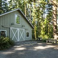 Reservable event shelter at Fort Townsend State Park.- A Complete Guide to Camping Near Seattle