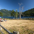 Day use area at Log Cabin Resort Campground.- A Complete Guide to Camping in Olympic National Park