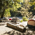 Riverside campsite at Staircase Campground.- Best Year-round Campgrounds in Washington