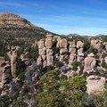 Echo Canyon formations in Chiricahua National Monument.- Ecosystems Divided: The Border Wall's Devastating Environmental Impacts