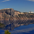 View of Llao Rock and Mount Theilsen on Crater Lake.- The Ultimate Western National Parks Road Trip