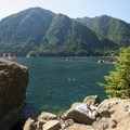 Lake Cushman, The Big Rock cliff-jumping spot.- 30 Must-Do Adventures in Washington