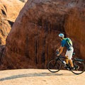Another hazard of Sand Flats mountain biking, but also the major attraction.- A Complete Guide to the Best Mountain Biking in Moab, Utah
