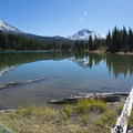 Three Sisters from Eileen Lake in the Three Sisters Wilderness.- Oregon's 60 Best Lakes for Summer