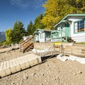 Cabins 2,3,4, and 5 at Lake Cushman Resort.- Best Year-round Campgrounds in Washington