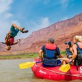 Summer fun on the Colorado River near Moab.- Summer Road Trip Destinations in Idaho, Colorado, and Utah