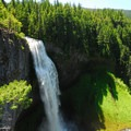 Diamond Falls: Salt Creek Falls from the upper viewpoint en route to Diamond Falls.- Oregon's 75 Best Day Hikes
