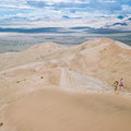 Reaching the summit of the Kelso dunes takes some real work.- Sink Your Toes into Miles of Sand